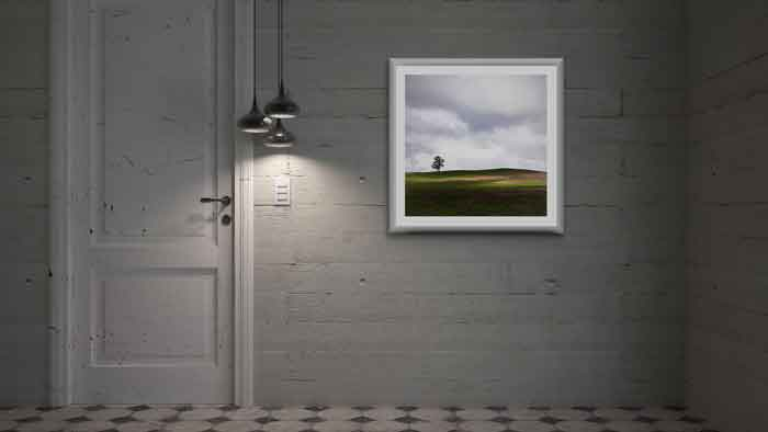 Landscape in Redcastle in a mockup