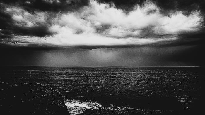 Rain on the coast at Phillip Island Australia