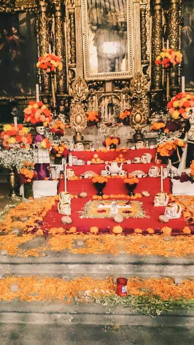 Mexico City Historic Center Altar Day of the Dead