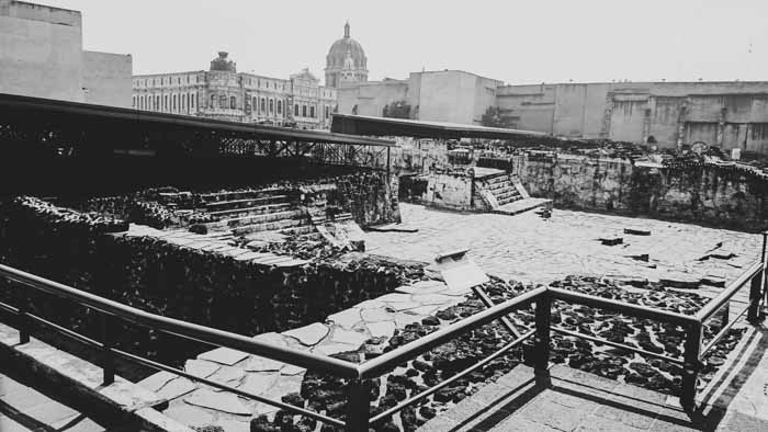 Templo Mayor in the Historic Center of Mexico City
