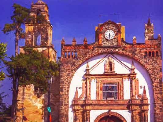 Church at Mexico City town