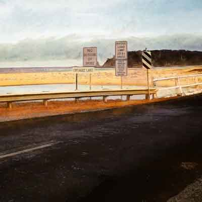 Road at One Way Bridge