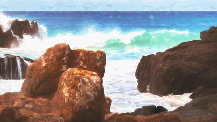 Rocks on the Coast of NSW Australia