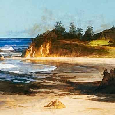 Cliff on the coast