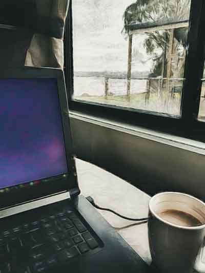 Laptop with Window View