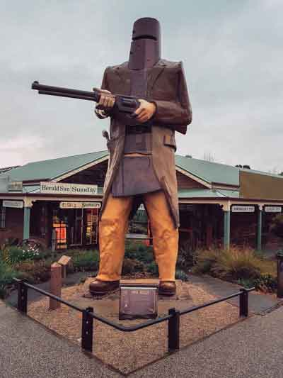 Big Ned Kelly on the Sydney Melbourne Road Trip