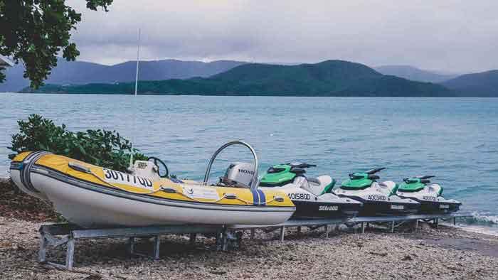 Boat & Jetskis at Daydream Island