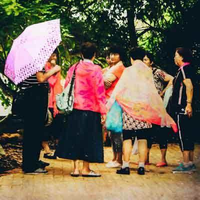 Tourists at Green Island