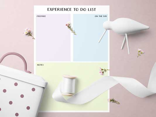Experience To Do List in a Mockup